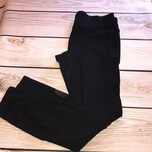 Forever 21 black workout leggings. Large.